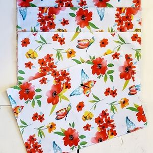 Other - Butterfly Floral Placemat Set of 4